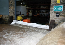 FloodSax Garage Door protection from flooding